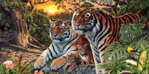 Сколько тигров на картинке? Весь интернет голову ломает…